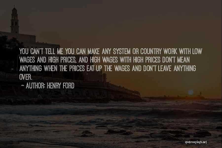 Prices Quotes By Henry Ford