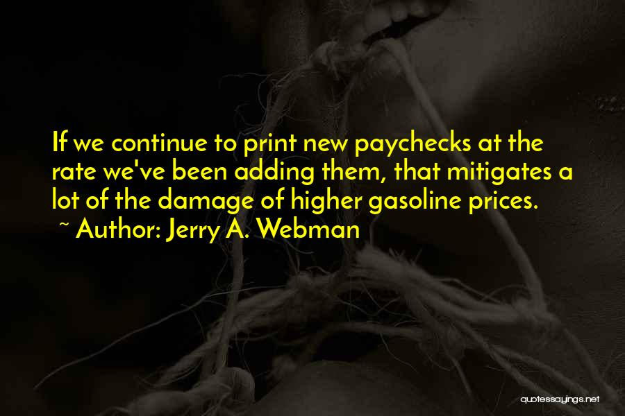 Prices Quotes By Jerry A. Webman