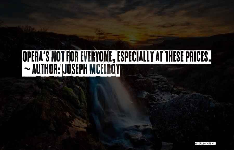 Prices Quotes By Joseph McElroy