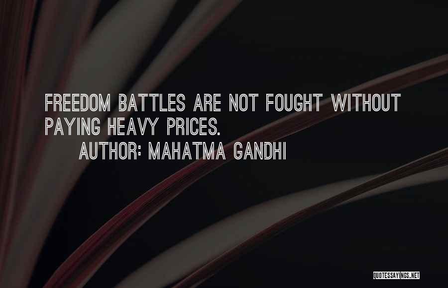 Prices Quotes By Mahatma Gandhi