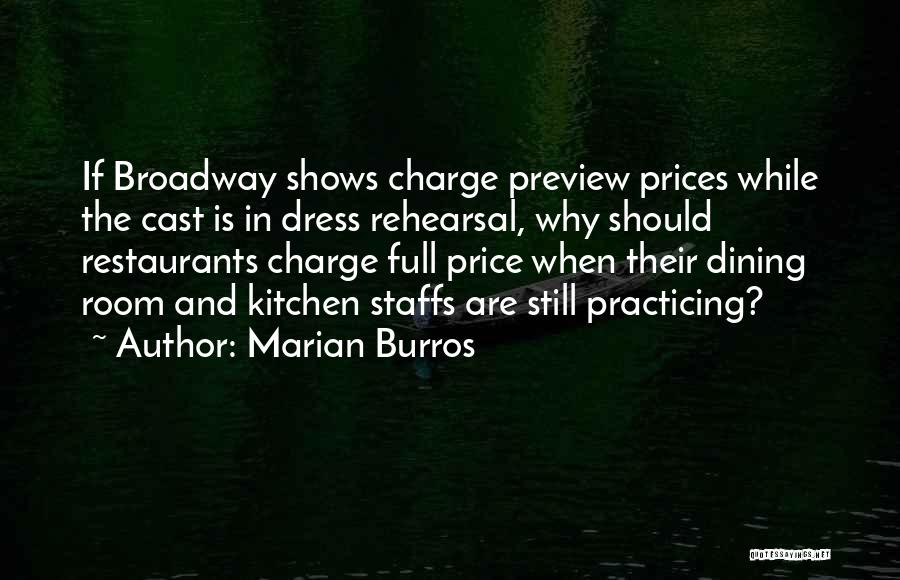 Prices Quotes By Marian Burros