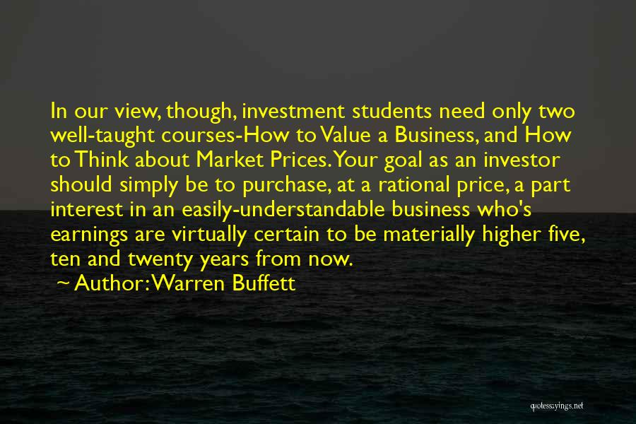 Prices Quotes By Warren Buffett