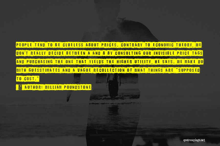 Prices Quotes By William Poundstone