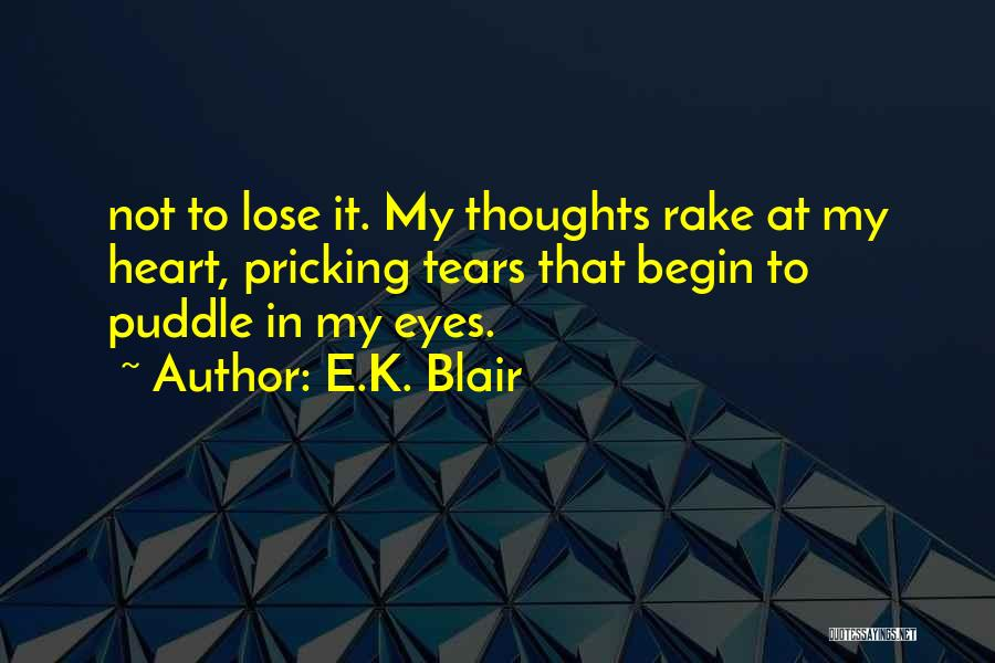 Pricking Quotes By E.K. Blair