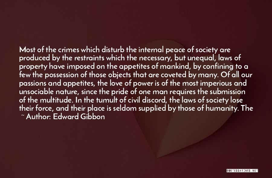 Pride Of Love Quotes By Edward Gibbon