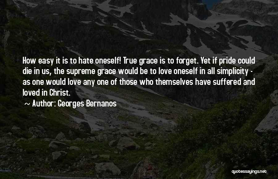 Pride Of Love Quotes By Georges Bernanos