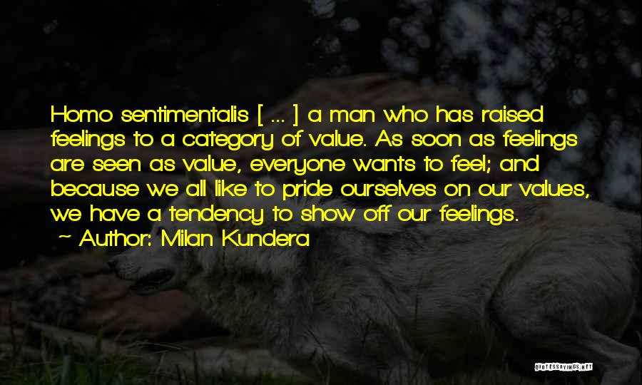 Pride Of Man Quotes By Milan Kundera