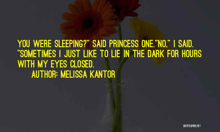 Princess Hours Quotes By Melissa Kantor