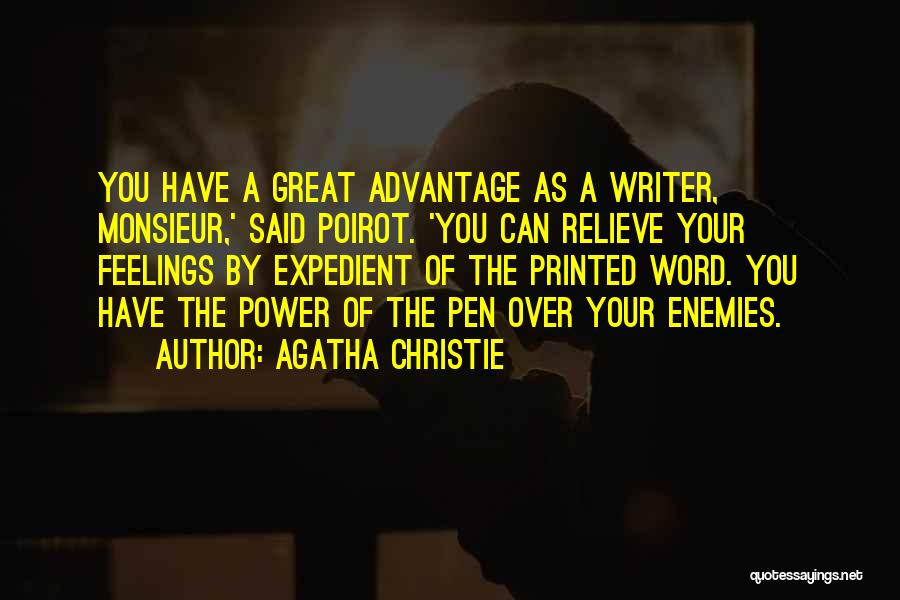 Printed Word Quotes By Agatha Christie