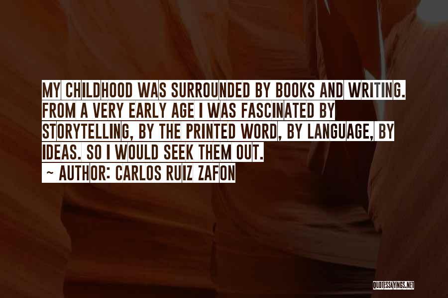 Printed Word Quotes By Carlos Ruiz Zafon