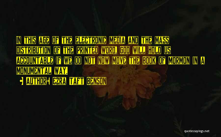 Printed Word Quotes By Ezra Taft Benson