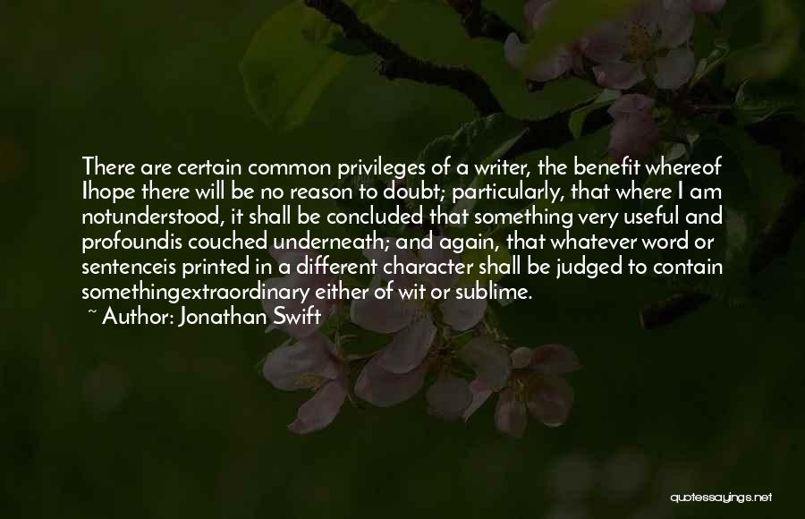 Printed Word Quotes By Jonathan Swift