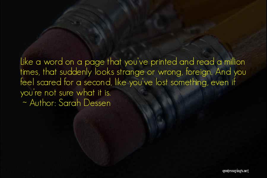 Printed Word Quotes By Sarah Dessen