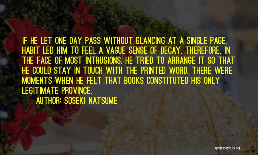 Printed Word Quotes By Soseki Natsume