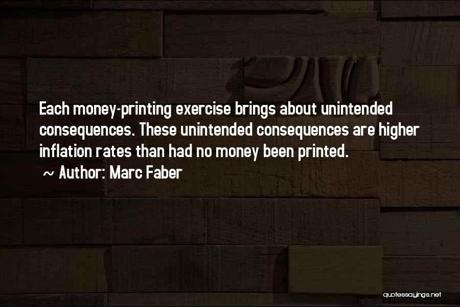 Printing Money Quotes By Marc Faber