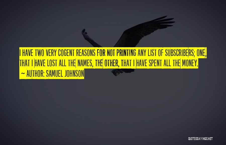 Printing Money Quotes By Samuel Johnson