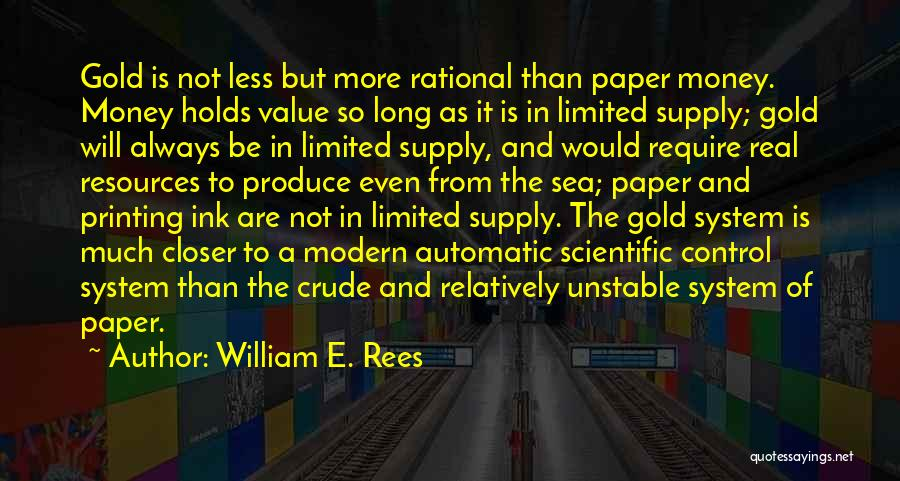 Printing Money Quotes By William E. Rees