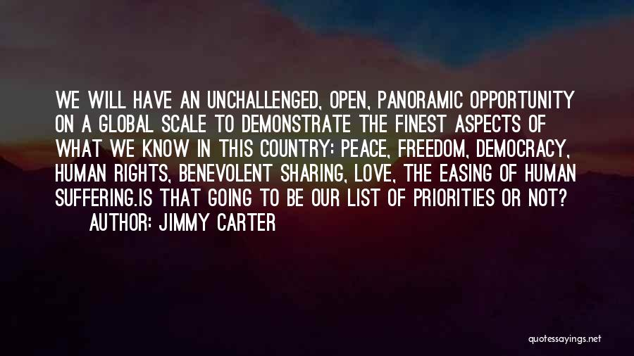 Priorities In Love Quotes By Jimmy Carter