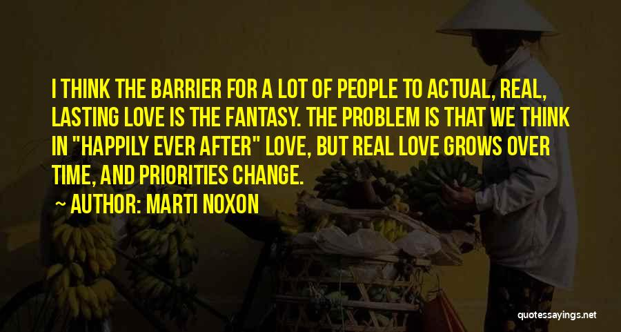 Priorities In Love Quotes By Marti Noxon
