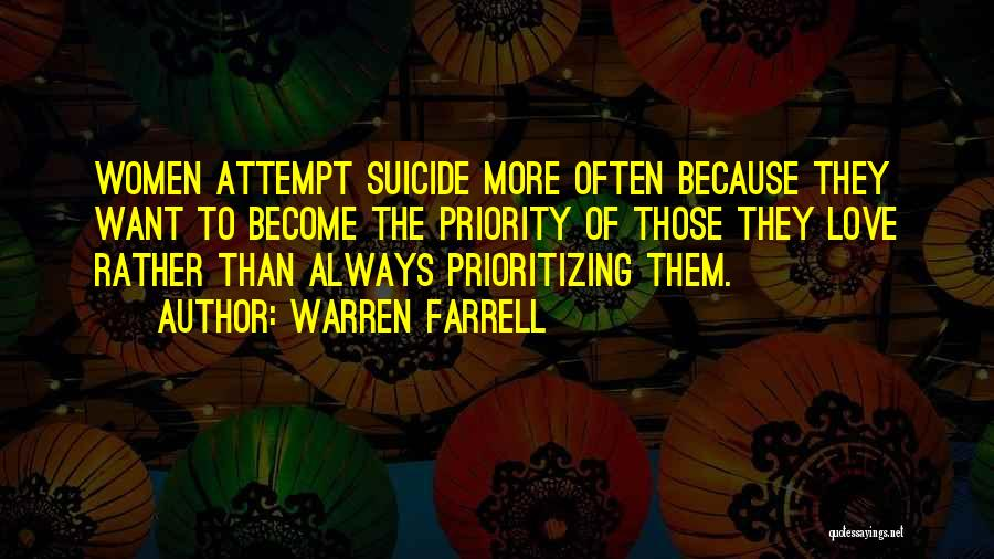Prioritizing Love Quotes By Warren Farrell