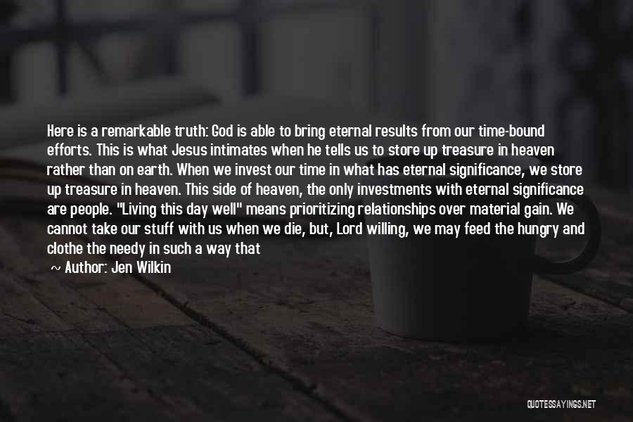 Prioritizing Time Quotes By Jen Wilkin