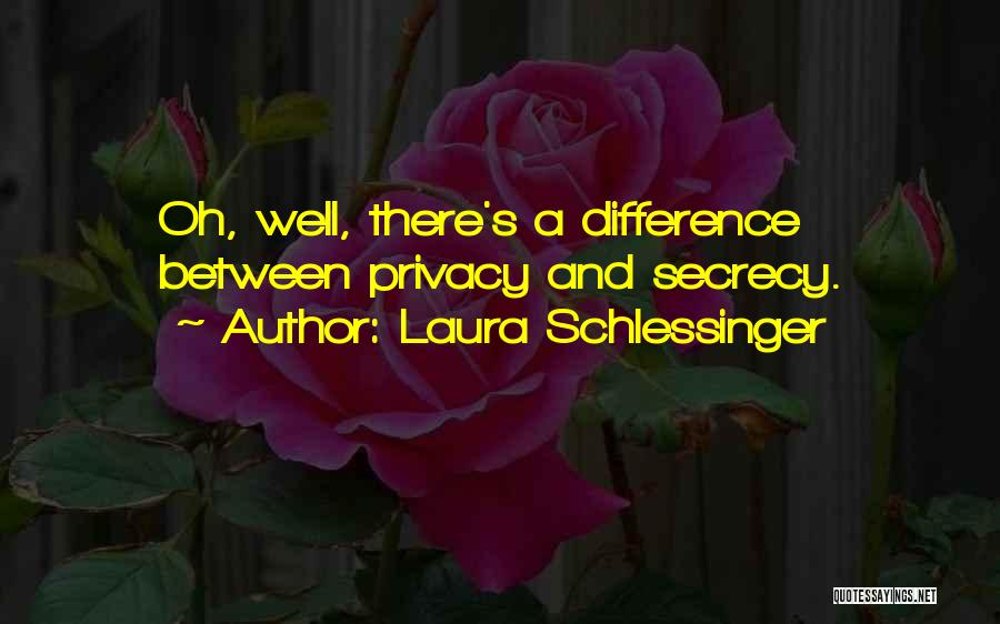Privacy And Secrecy Quotes By Laura Schlessinger