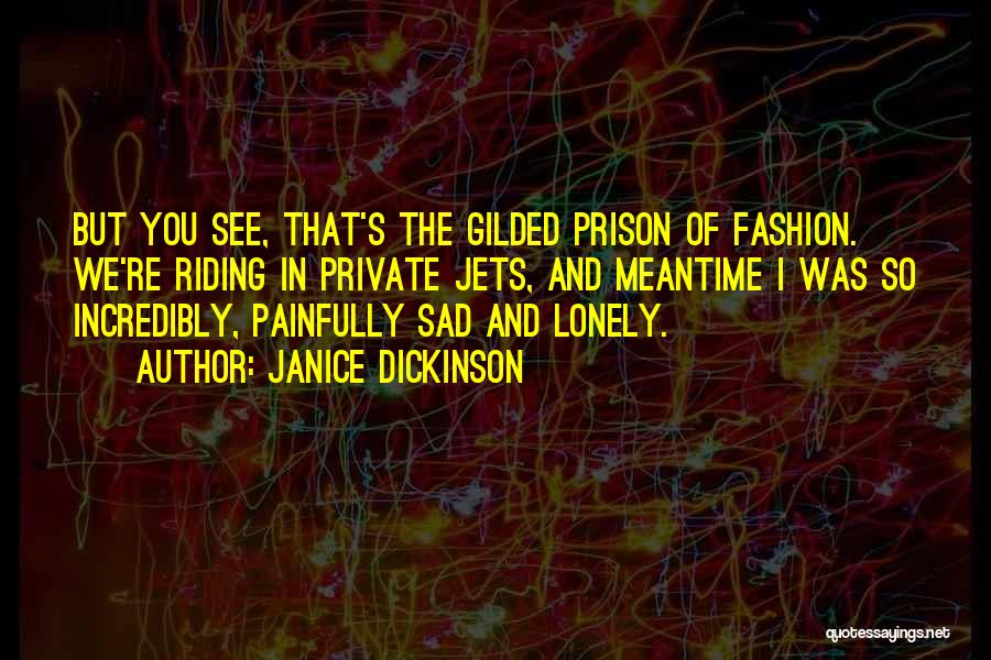 Private Jets Quotes By Janice Dickinson