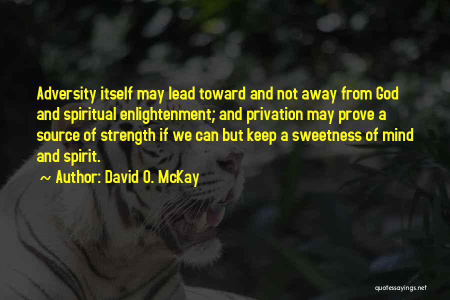 Privation Quotes By David O. McKay