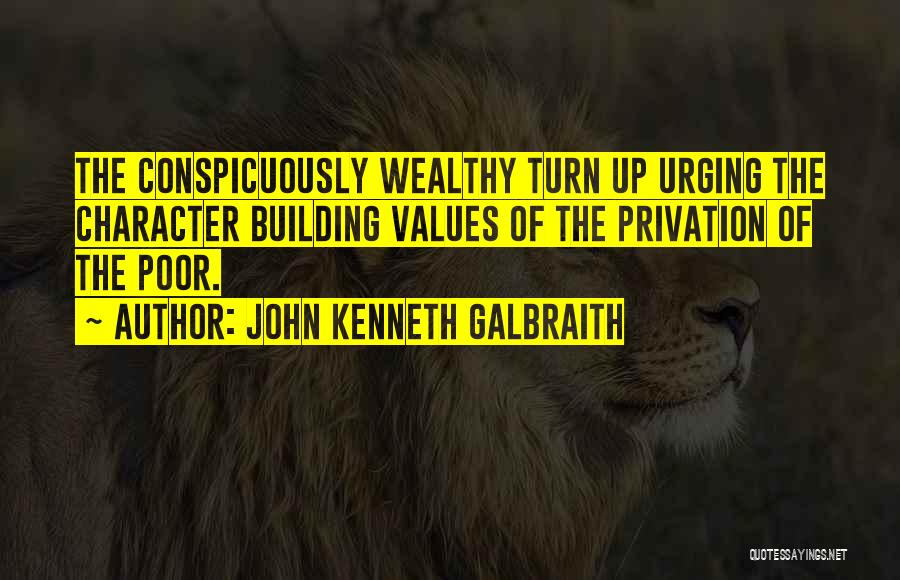 Privation Quotes By John Kenneth Galbraith