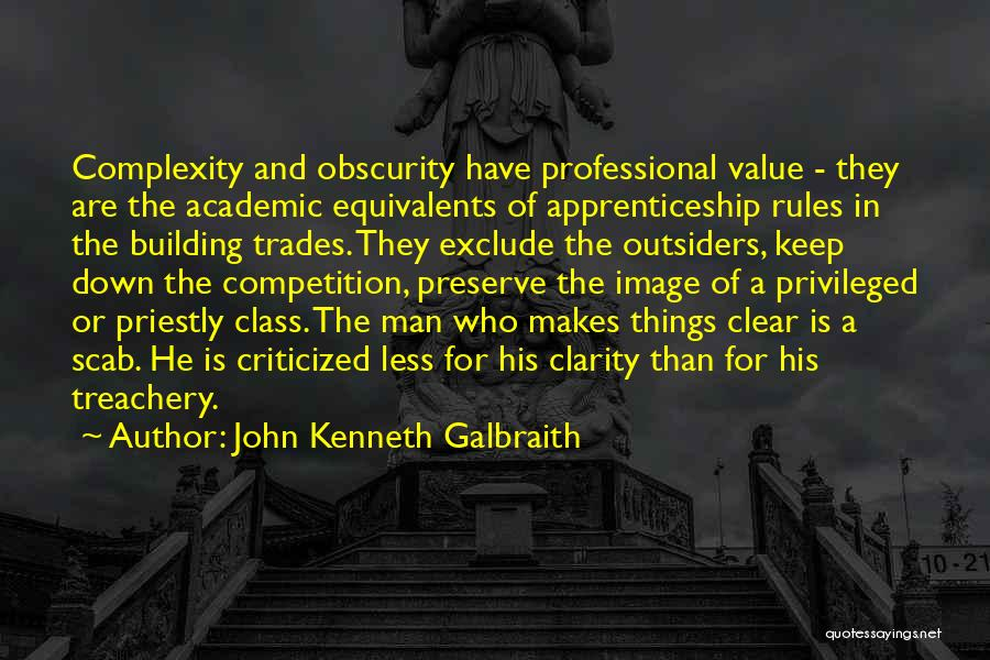 Privileged Class Quotes By John Kenneth Galbraith