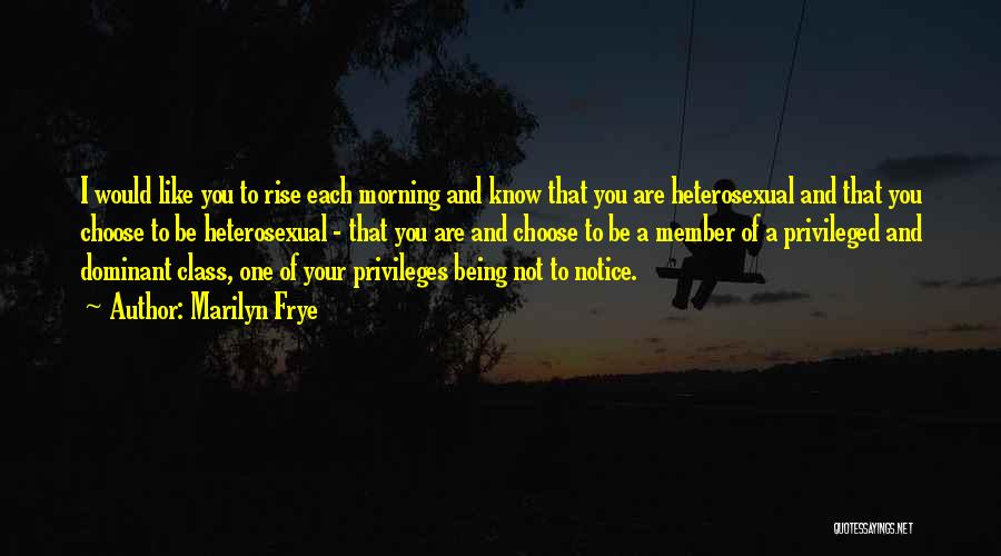 Privileged Class Quotes By Marilyn Frye