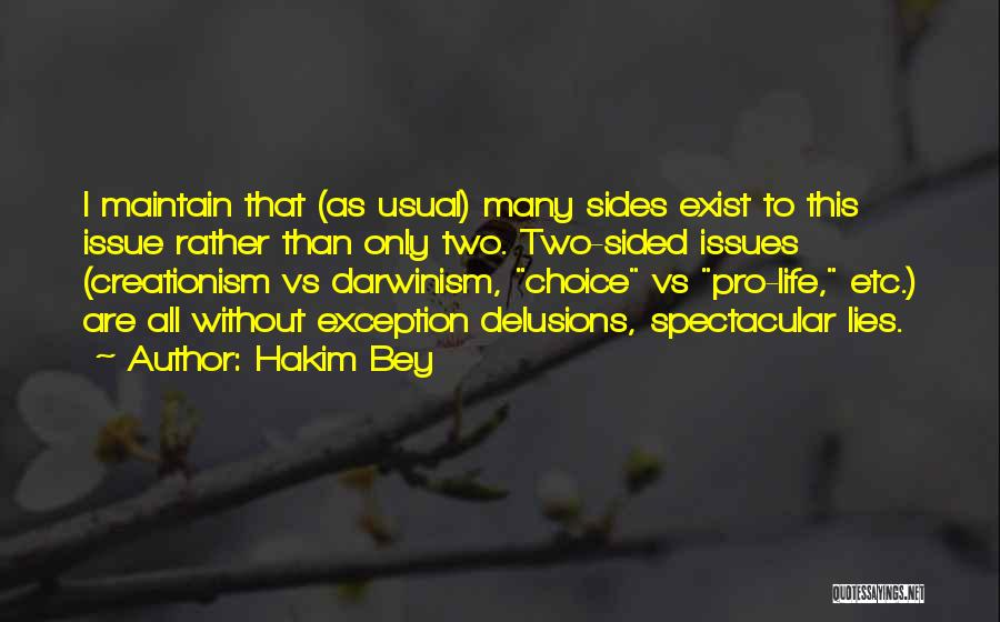 Pro Choice Quotes By Hakim Bey