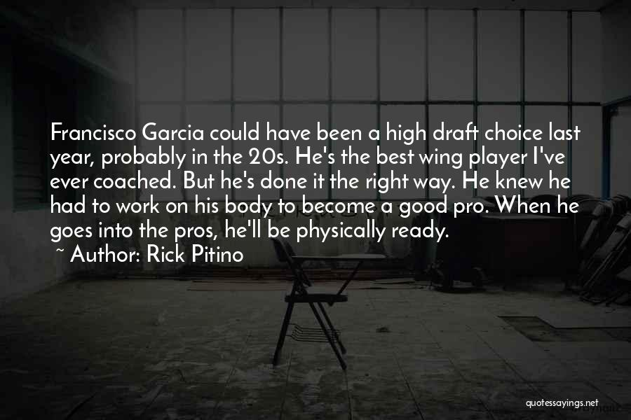 Pro Choice Quotes By Rick Pitino