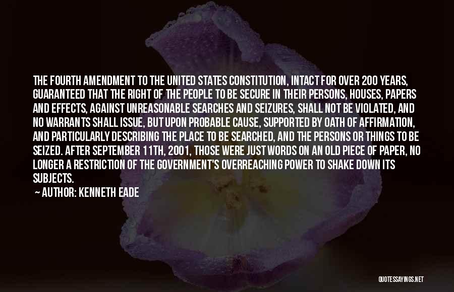 Probable Cause Quotes By Kenneth Eade