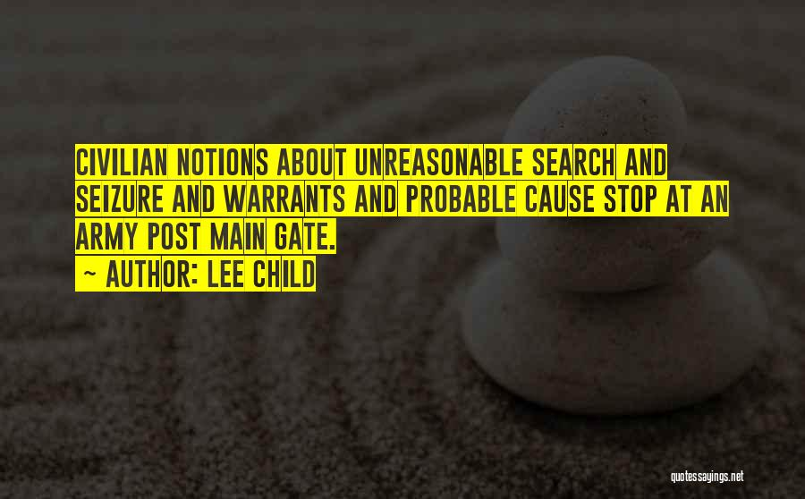 Probable Cause Quotes By Lee Child