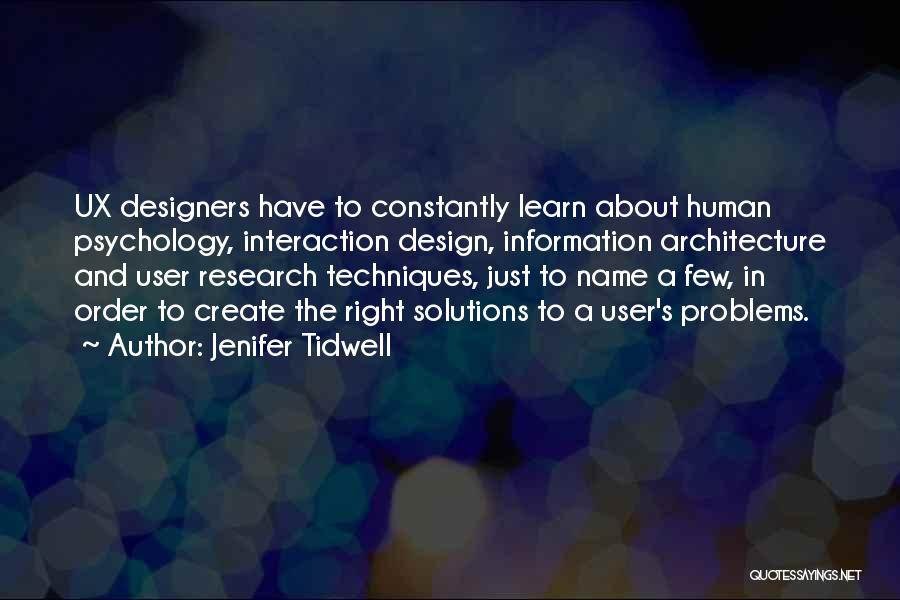 Problems Have Solutions Quotes By Jenifer Tidwell