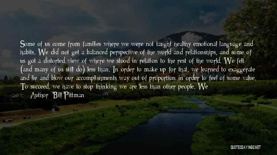 Problems In Relationships Quotes By Bill Pittman