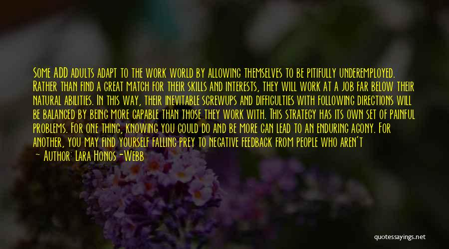 Problems In Relationships Quotes By Lara Honos-Webb