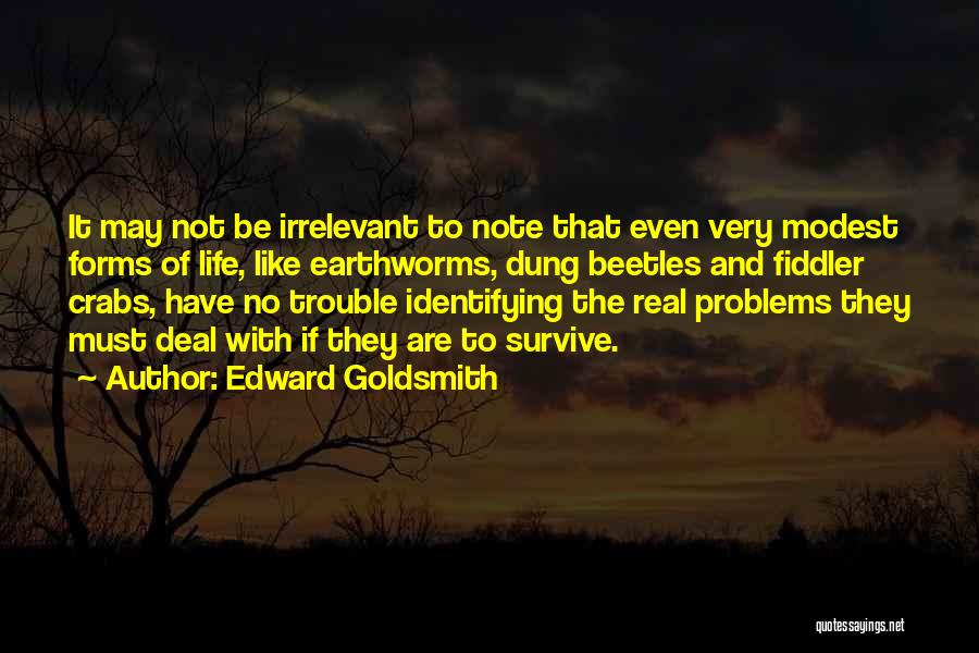 Problems Of Life Quotes By Edward Goldsmith