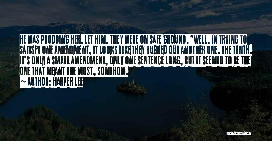Prodding Quotes By Harper Lee