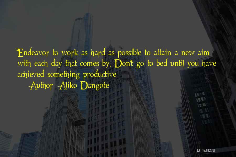 Productive Work Quotes By Aliko Dangote