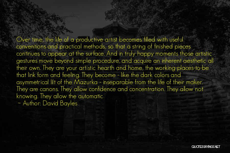 Productive Work Quotes By David Bayles