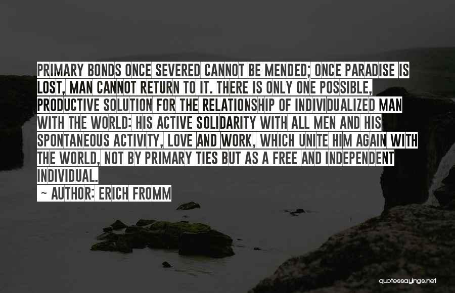 Productive Work Quotes By Erich Fromm