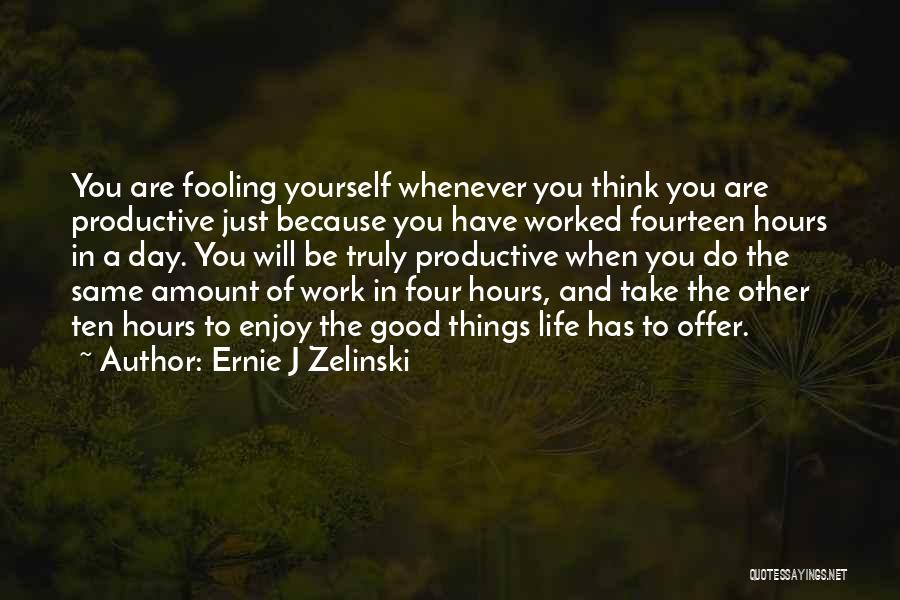 Productive Work Quotes By Ernie J Zelinski