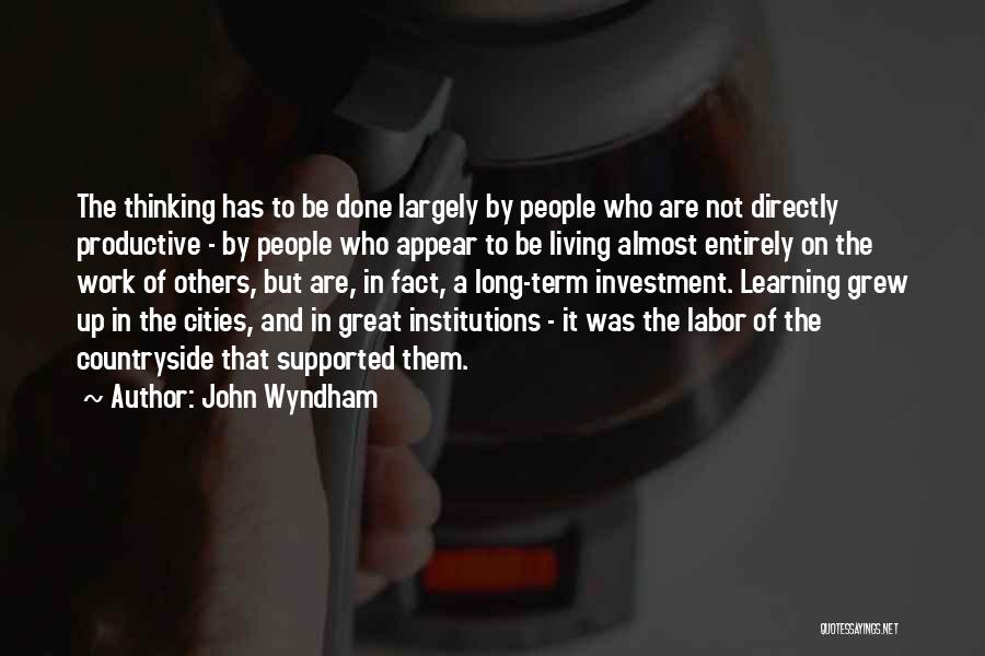 Productive Work Quotes By John Wyndham