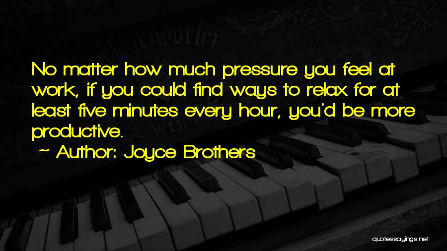 Productive Work Quotes By Joyce Brothers
