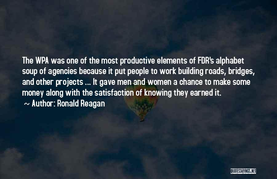 Productive Work Quotes By Ronald Reagan