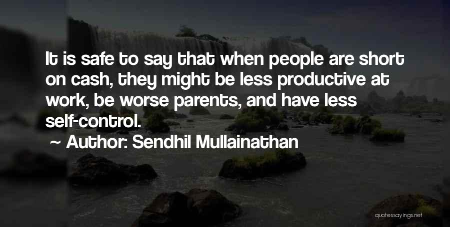 Productive Work Quotes By Sendhil Mullainathan