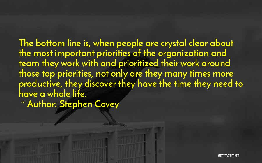 Productive Work Quotes By Stephen Covey