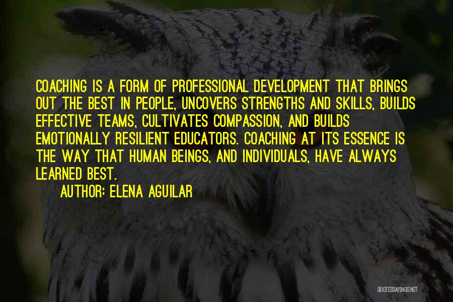 Professional Skills Quotes By Elena Aguilar